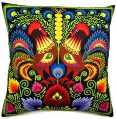 Rooster pillow~ LOVE the Roster  pattern on anything !!