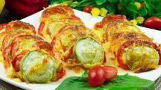 Top 5 rețete delicioase cu dovlecei – sigur trebuie să le prepari în ace... Vegetarian Recipes, Cooking Recipes, Romanian Food, Top 5, Fresh Rolls, Food Videos, Baked Potato, Zucchini, Sushi