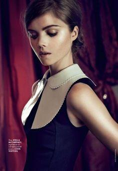 Louis Vuitton: scalloped white Peter Pan collar- classic