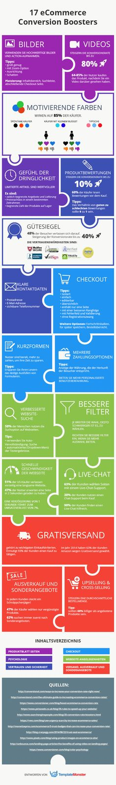 #eCommerce Konversion-Boosters #Infografik