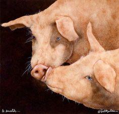le smooch Print by Will Bullas