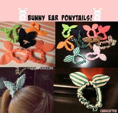 Super Cute Bunny Ear Ponytails Variety of Patterns by GeekGifting