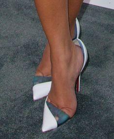 Adrienne Bailon wearing Christian Louboutin 'Miss Rigidaine' pumps