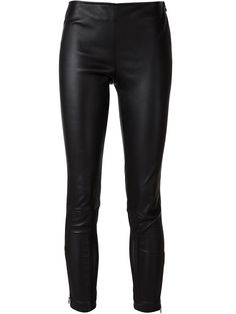 I wore the same thing every day this winter: leather pants and a big, chunky sweater.  Yigal Azrouel Cropped Leggings, $1,690; farfetch.com   - ELLE.com