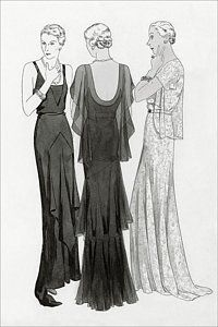 Digital Art - Models Wearing Evening Gowns by Polly Tigue Francis