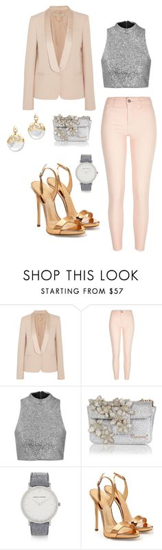 """""""Holiday party"""" by pinklotuschild ❤ liked on Polyvore featuring Vanessa Bruno, River Island, Topshop, Dsquared2, Larsson & Jennings, Giuseppe Zanotti and Alexis Bittar"""