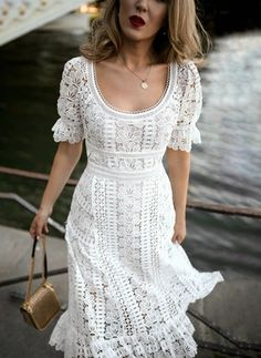love this white floral embroidered lace midi dress 👠 Stylish outfit ideas for women who love fashion! Lace Midi Dress, Dress Up, White Dress Outfit, Dress Outfits, Chic Dress, White Dress Casual, Dress Shoes, Orange Dress, Dance Shoes