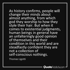 Self-conscious nothings - Thomas Ligotti