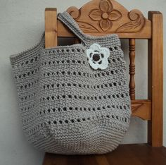 free crochet purse patterns | Make the perfect bag for any errand; you can use it as a beach bag, a ...