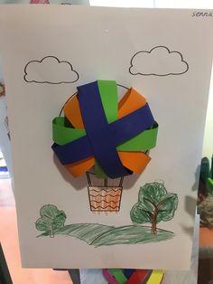 luchtballon 3d met stroken