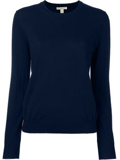 Burberry Merino Wool Elbow Patch Sweater In Navy Elbow Patch Sweater, Elbow Patches, Burberry Brit, Cigarette Trousers, Dark Denim, Designing Women, Merino Wool, Knitwear, Pure Products