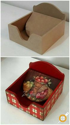 Decoupage Vintage, Decoupage Box, Tin Can Crafts, Diy Arts And Crafts, Diy Crafts, Tole Painting, Painting On Wood, Paint Designs, Decorative Items