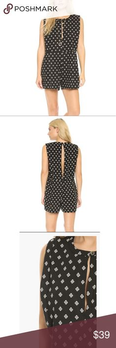"Free People Ashley Print Linen Blend Romper Black * Free People Ashley Print Linen Blend Romper  * New with tag  * Crew neck * Sleeveless * Size M * Front and back button-and-loop closure with keyhole detail * 55% linen, 45% rayon * On-seam hip pockets * MSRP $128.00    Size Medium - 32"" length; 2 1/2"" inseam; 33"" leg opening (size Medium)   Items are guaranteed 100% Authentic. Free People Other"