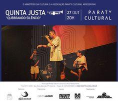 Anote aí! Na próxima Quinta (27), tem Quinta Justa na Casa da Cultura Paraty Cultural com o o grupo de rap Quebrando Silêncio. #CasaDaCultura #CasaDaCulturaParaty #exposição #fotografia #música #cultura #turismo #arte #cinema #VisiteParaty #TurismoParaty #Paraty #PousadaDoCareca #ParatyCultural #PartiuBrasil #MTur #boatarde #boatardee #bomdia #boanoite #QuintaJusta