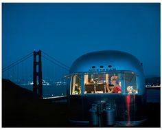 Airstream at the Marin Headlands. Lovely.