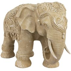 Standing Elephant Figurine