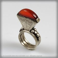 eBay | Old and Tribally Used Tuareg Silver & Carnelian Tisek Ring Mali Africa |Pinned from PinTo for iPad|