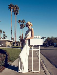 the february issue of harper's bazaar features model bette franke photographed beautifully in palm springs by lachlan bailey.