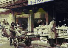 paintings of cheese market - Google Search