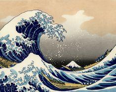 HOKUSAI. La gran ola de Kanagawa. 1830-32. Xilografía.