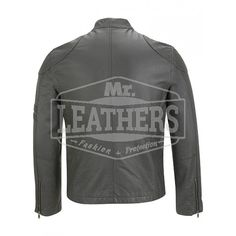 Black Bikers Style Leather Jacket
