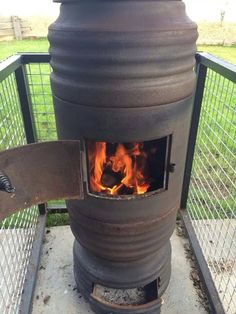Brake drum potbelly stove