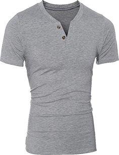 jeansian Men's Summer V-Neck Short Sleeves Henry T-shirts... http://www.amazon.com/dp/B01G52R0HW/ref=cm_sw_r_pi_dp_gBvrxb0WGAAJN