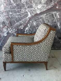 Vintage antique arm chair mid century by redesignrestoration, $650.00 - cool but with different fabric
