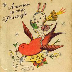 En el año 2009 ilustré la campaña del aniversario de FNAC Triangle #sergiomora #magicomora #fnac