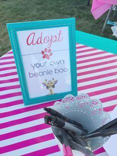 Beanie Boo adoption party