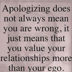Apologizing...