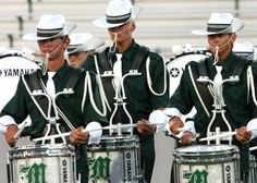 Madison Scouts snares looking cool with their ties