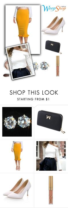 """""""YELLOW MELLOW//25"""" by tamsy13 ❤ liked on Polyvore featuring Bare Escentuals"""