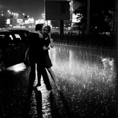 """come on,"" she laughs, tugging on his hand, ""come dance with me."" ""it's raining,"" he says, his eyes laughing as she pulls him into the warm downpour, ""we're going to get soaked."" ""i know,"" she murmurs, her breath warm on his face, water collecting on her eyelashes, running down her face, soaking her shoulders. ""i know. just dance."""