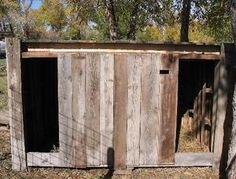 How to Make a Goat Shelter Out of Wood Pallets all dairy goats need shelter #goatvet  www.goatvetoz.com.au for tips to keep your goats healthy