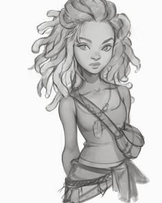 Character portrait sketch! Sorry bout the lack of art lately guys! I'm hoping to get this lady done in full colour over the next day or so.…