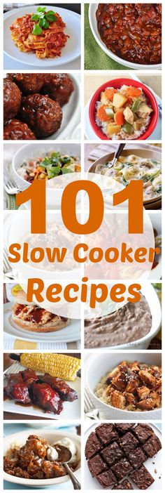 101 Slow Cooker Recipes - this is awesome! It's even broken down into Chicken, Beef, Pork, Desserts, etc! | www.classyclutter.net