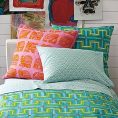 Mixed Print Pillows.....one of my favorite looks