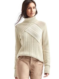 Patchwork turtleneck sweater - GAP
