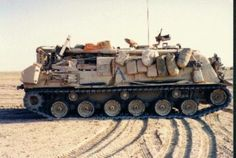 M88A1 Recovery Vehicle  Desert Ready Fully Combat Loaded and then some.