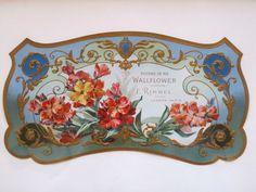 Antique E. Rimmel Wallflower Poudre de Riz Perfume Etiquettes / Labels C1890