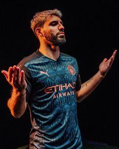 Football Shirt Designs, Football Shirts, Football Players, Alfa Man, Manchester City Wallpaper, Sport Shirt Design, Sergio Aguero, Kun Aguero, Soccer Photography