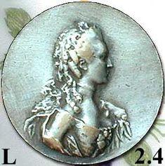 Marie Antoinette antique silver button