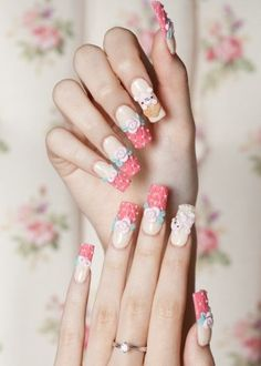 gorgeous, but what can you do w/nails so long?