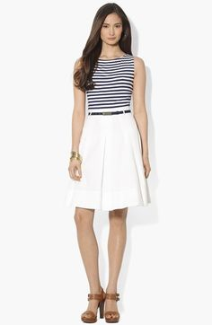 Lauren Ralph Lauren Mock Two Piece Dress available at #Nordstrom $89.40 (only available in 10, 12)