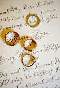 Presentación de anillos de bodas