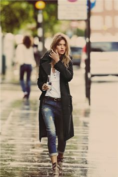 The coat makes this outfit. Guy Aroch for #freepeople.