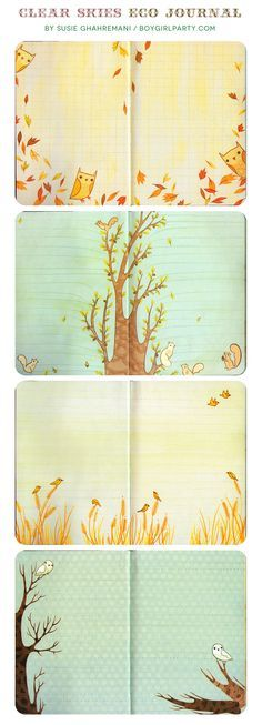 Printed on 100% recycled papers with soy inks, this colorful journal features the adorable woodland-themed art of Chronicle Books stationery favorite Susie Ghahremani. 224 pages, full color. ~5 3/4 x
