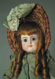 Bisque Doll; Petit & Dumontier, Bebe, Paperweight Eyes, Jointed Body, 26 inch.