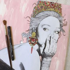 'The Queen Rihanna' | Ëlodie | Fashion illustrator, Paris